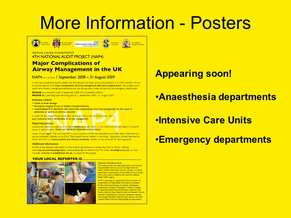 More Information - Posters Appearing soon.
