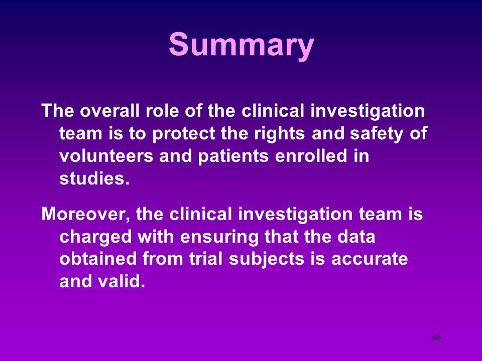 45 An Answer  Investigator Certification AAPP - Certified Physician Investigator (CPI) ACRP - Certified Clin. Res. Investigator (CCRI) SoCRA - Certif