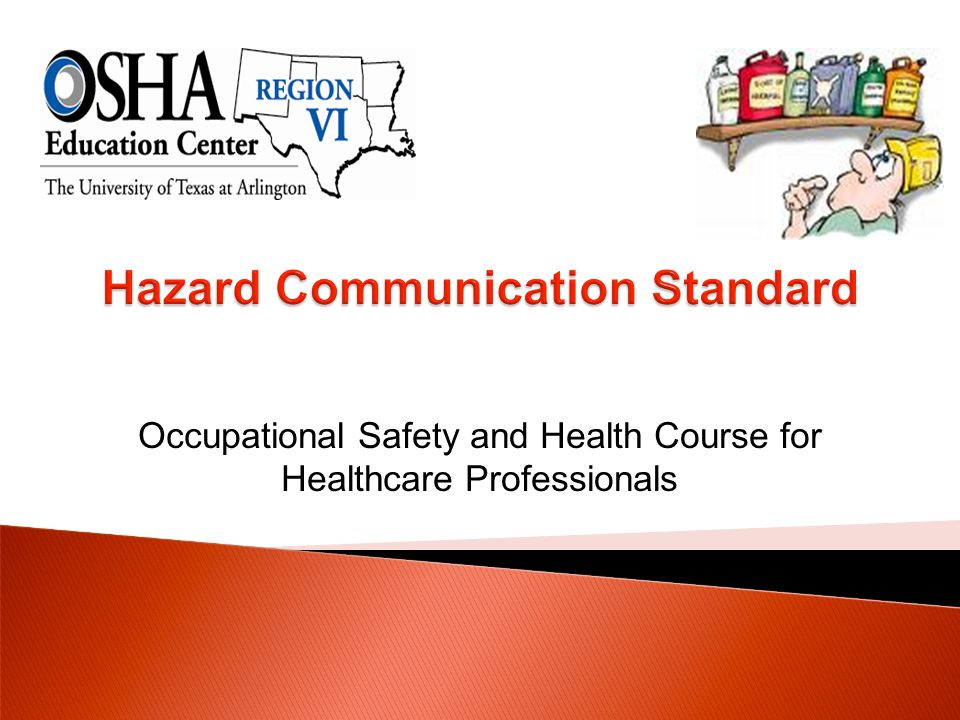Occupational Safety and Health Course for Healthcare Professionals