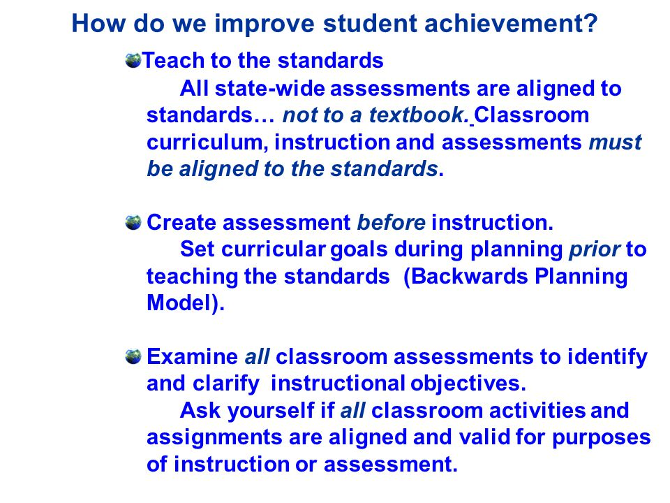 How do we improve student achievement.