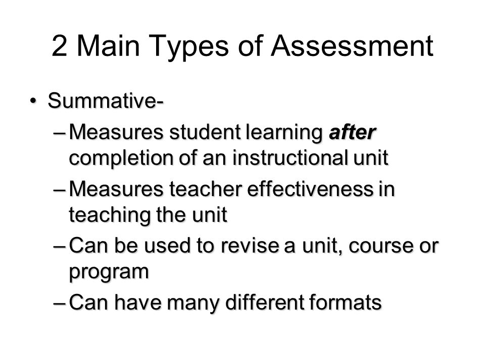 Improving Classroom Assessments Students should have practice answering questions in various formats so they can focus on the content and intent of the question.Students should have practice answering questions in various formats so they can focus on the content and intent of the question.