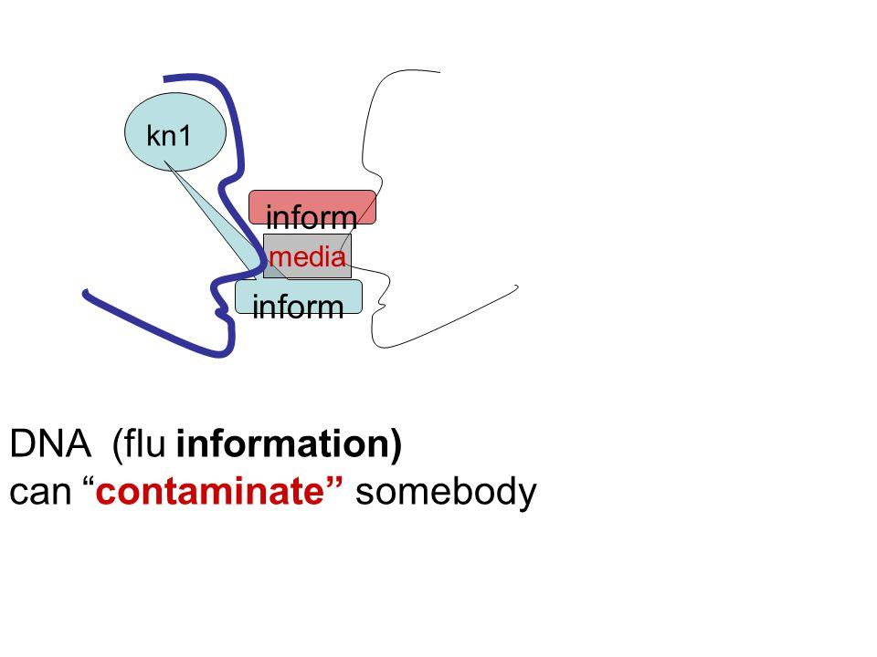 kn1 inform media DNA (flu information) can contaminate somebody