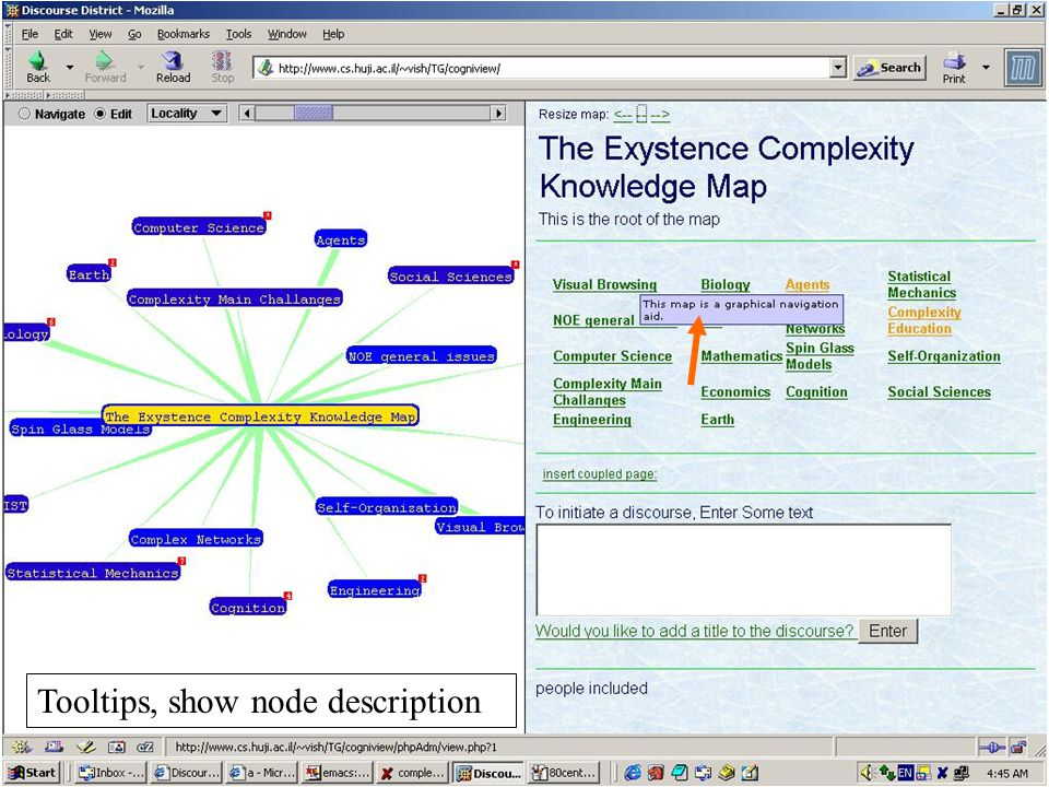 Tooltips, show node description