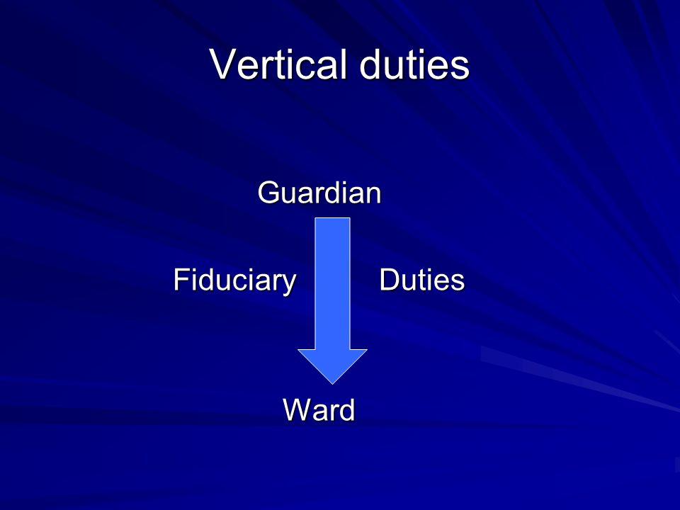 Vertical duties Guardian Fiduciary Duties Ward
