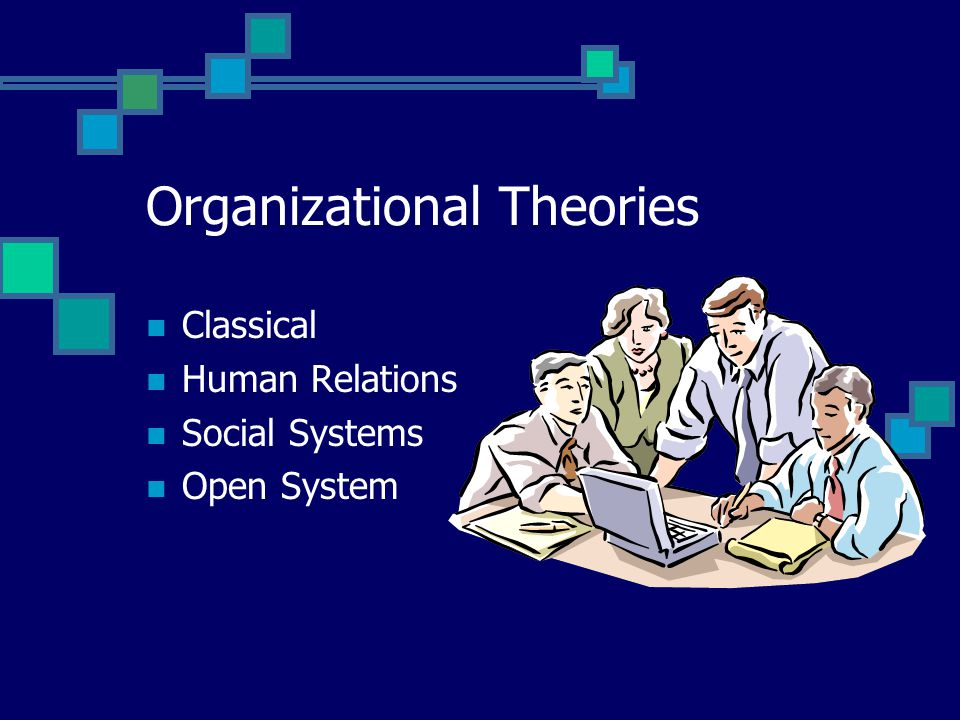 Organizational Theories Classical Human Relations Social Systems Open System