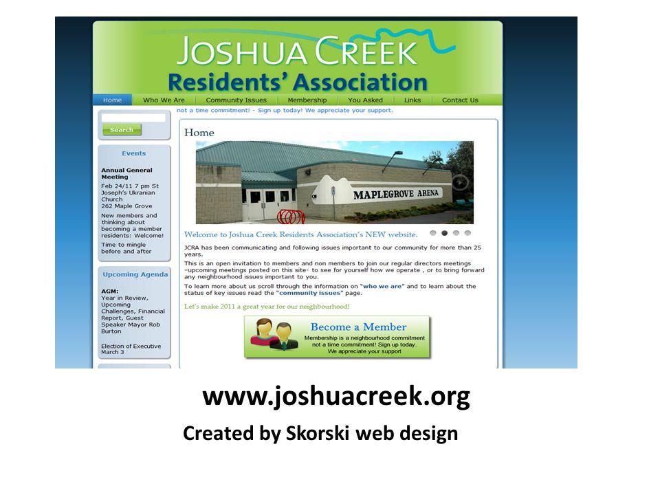 www.joshuacreek.org Created by Skorski web design
