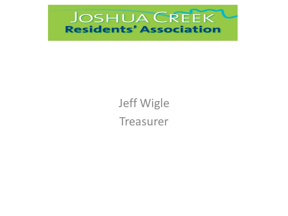 Jeff Wigle Treasurer