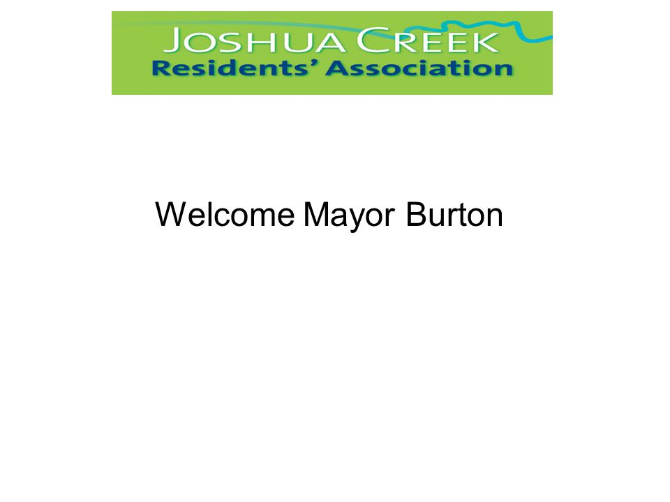 Welcome Mayor Burton