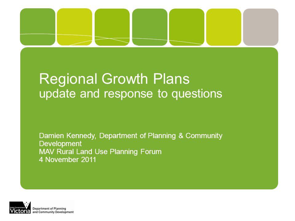 Regional Growth Plans