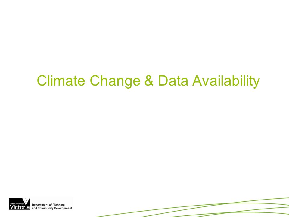 Climate Change & Data Availability