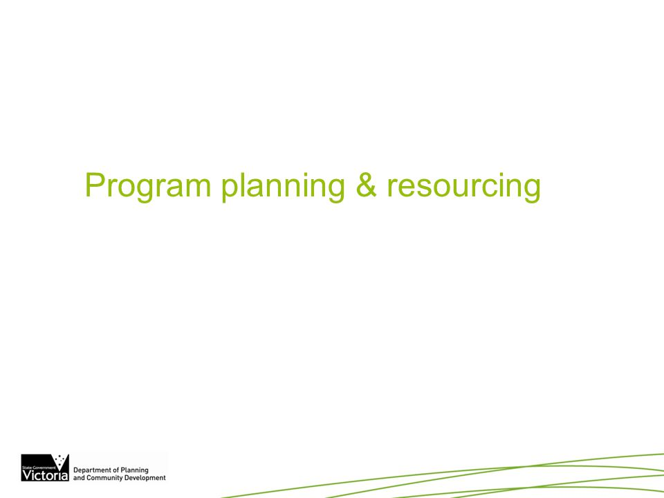Program planning & resourcing Can DPCD create templates for various study briefs.