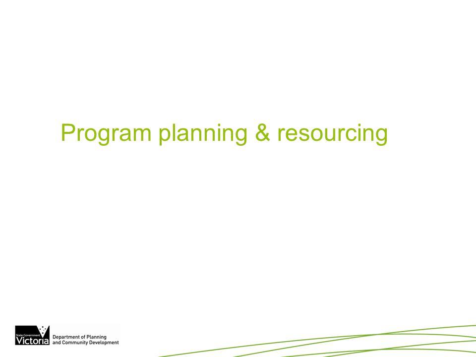 Program planning & resourcing