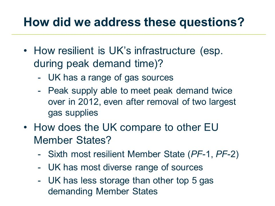 How resilient is UK's infrastructure (esp. during peak demand time).