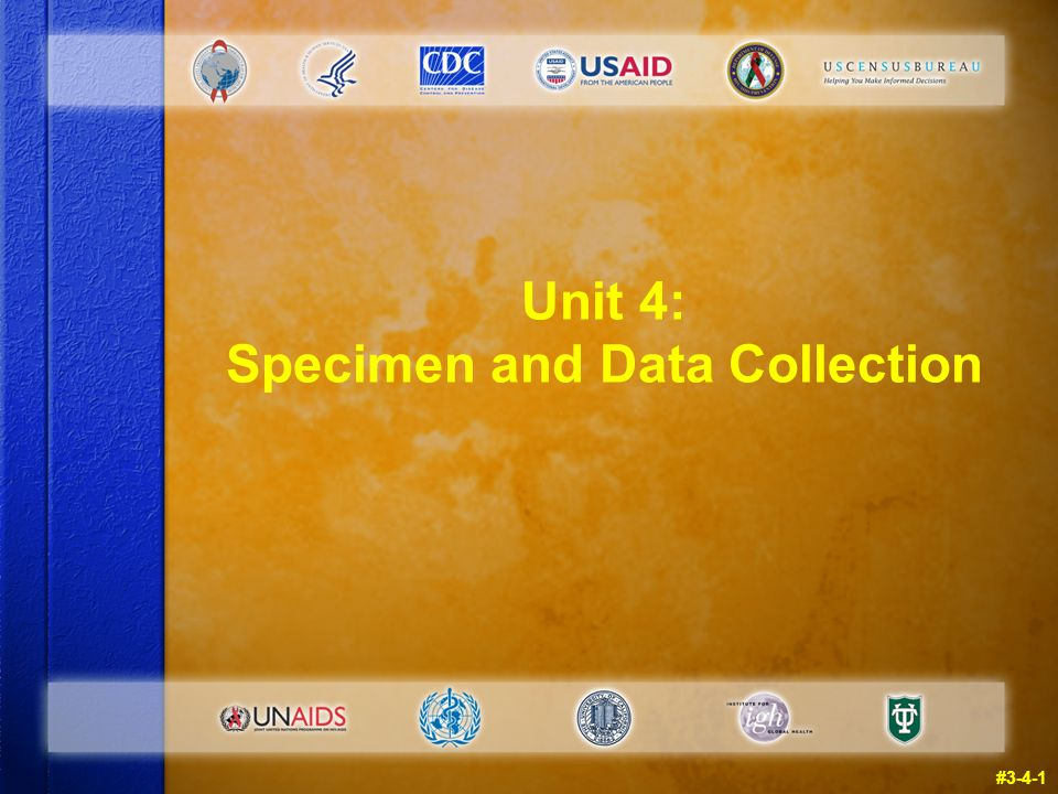 Unit 4: Specimen and Data Collection #3-4-1