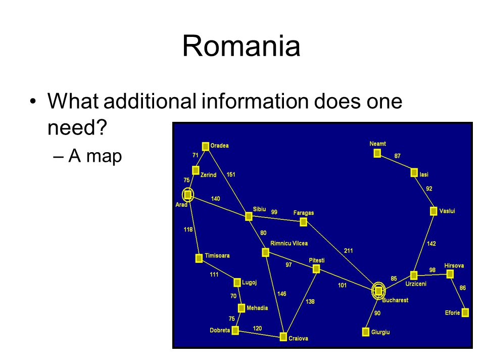 Romania What additional information does one need? –A map