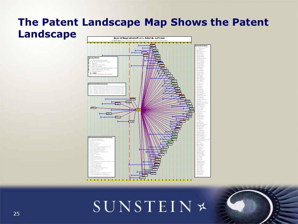 25 The Patent Landscape Map Shows the Patent Landscape
