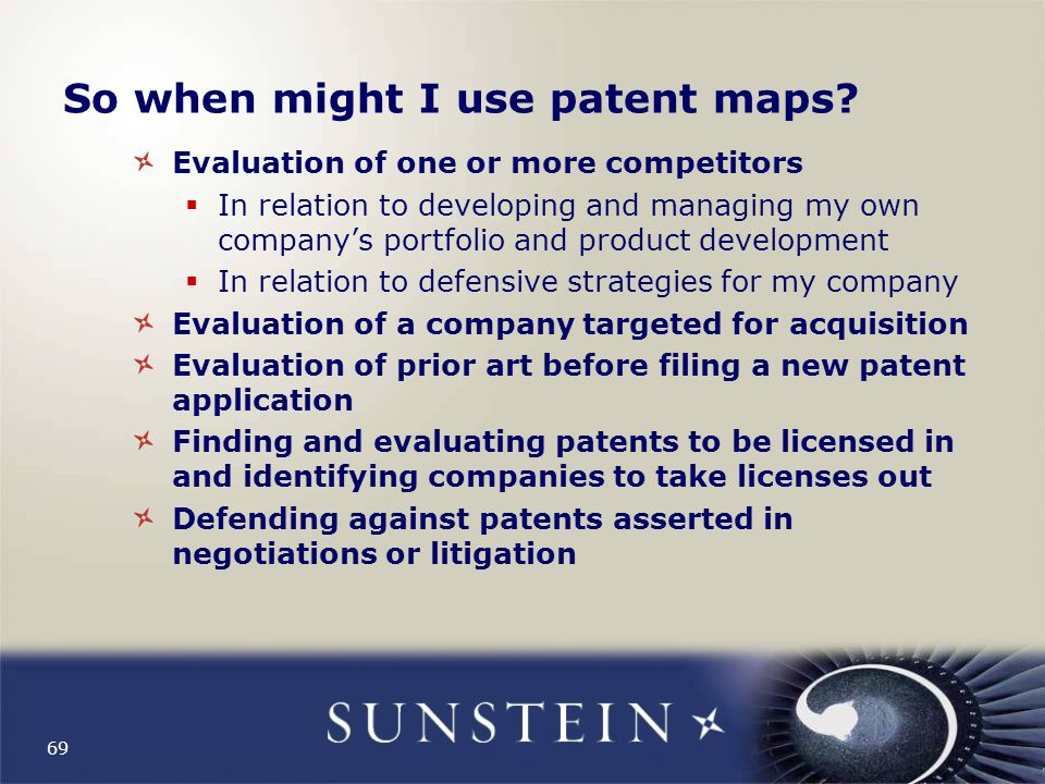 So when might I use patent maps.