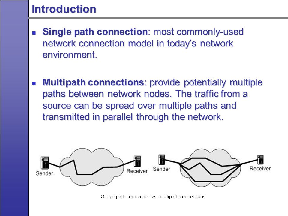 Introduction Single path connection vs.