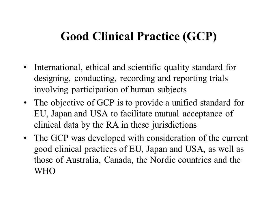 The Principles of ICH GCP 1.