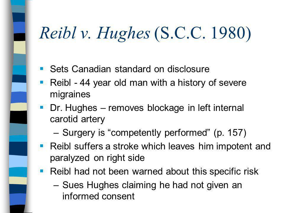 Reibl v. Hughes (S.C.C.