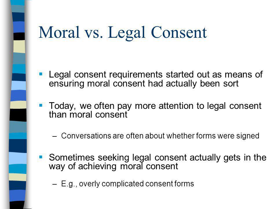 Moral vs.