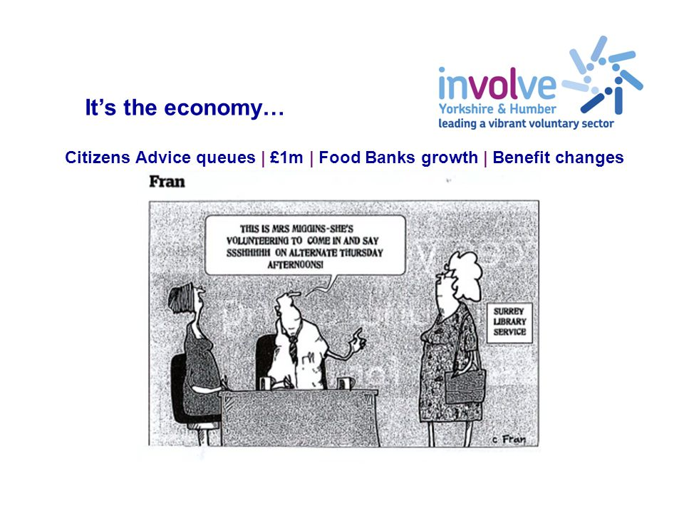Citizens Advice queues | £1m | Food Banks growth | Benefit changes It's the economy…