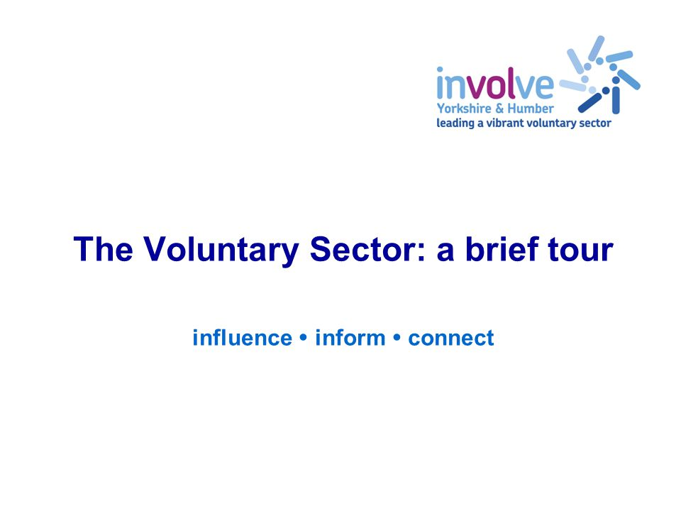 The Voluntary Sector: a brief tour influence  inform  connect