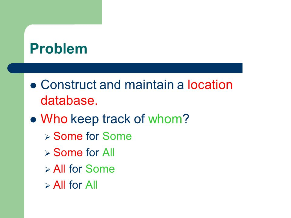 Randomized Location Service [ S.