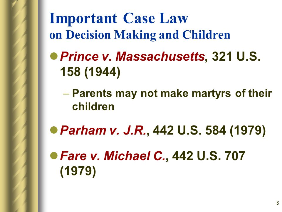 8 Important Case Law on Decision Making and Children Prince v.