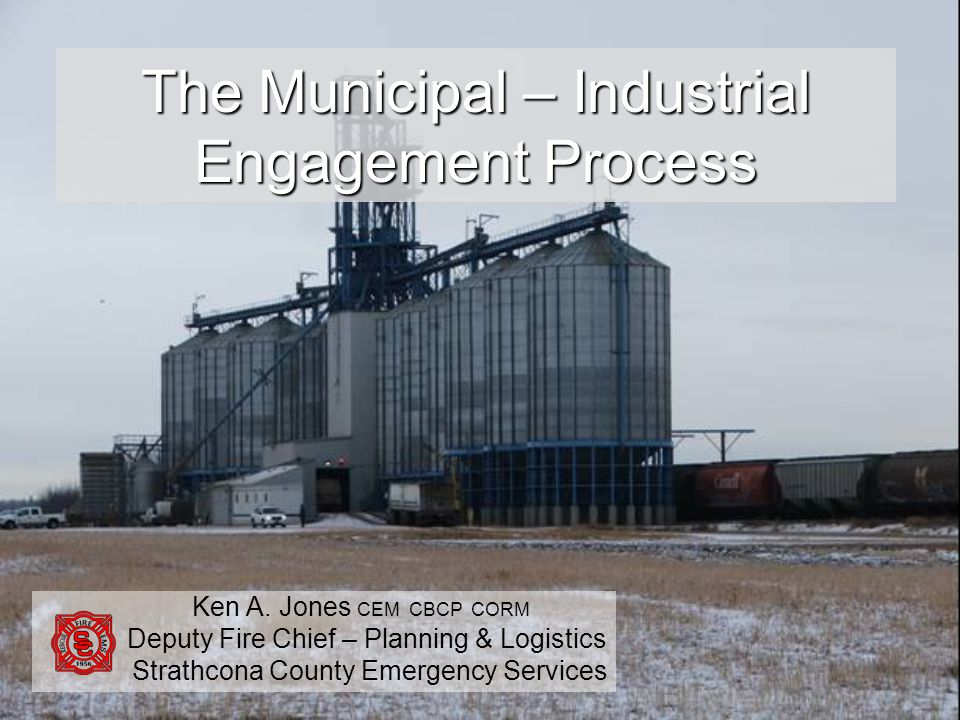 SESSION OBJECTIVE: Describe one example of a municipal-industrial engagement process.