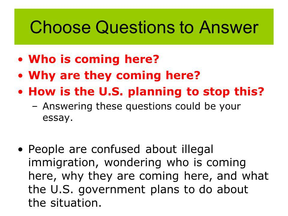Choose Questions to Answer Who is coming here. Why are they coming here.