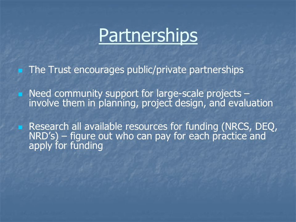 General Trust Applications Due September 4, 2007 Recommendations released Feb.