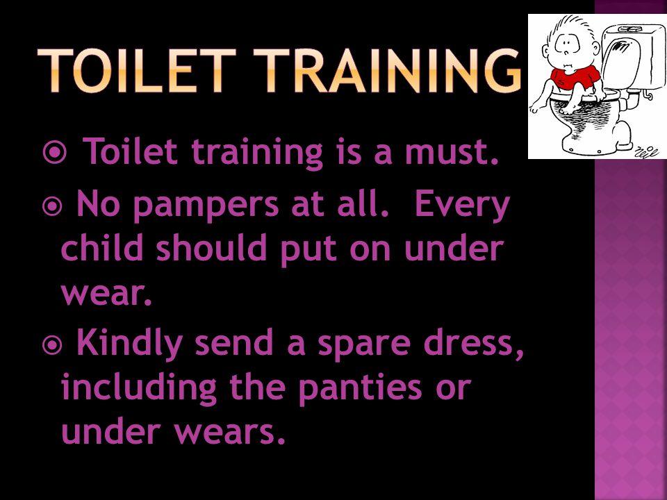  Teach hygiene to the children.