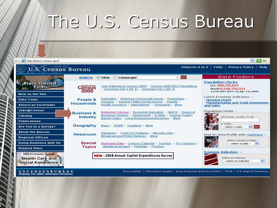 The U.S. Census Bureau