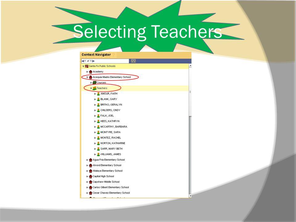 Selecting Teachers