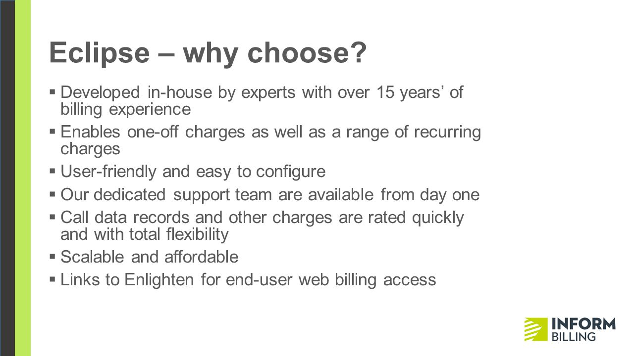 Eclipse – why choose.