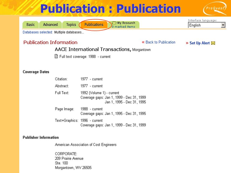 Results 1.The number of result2.Select type of article's sources 3.