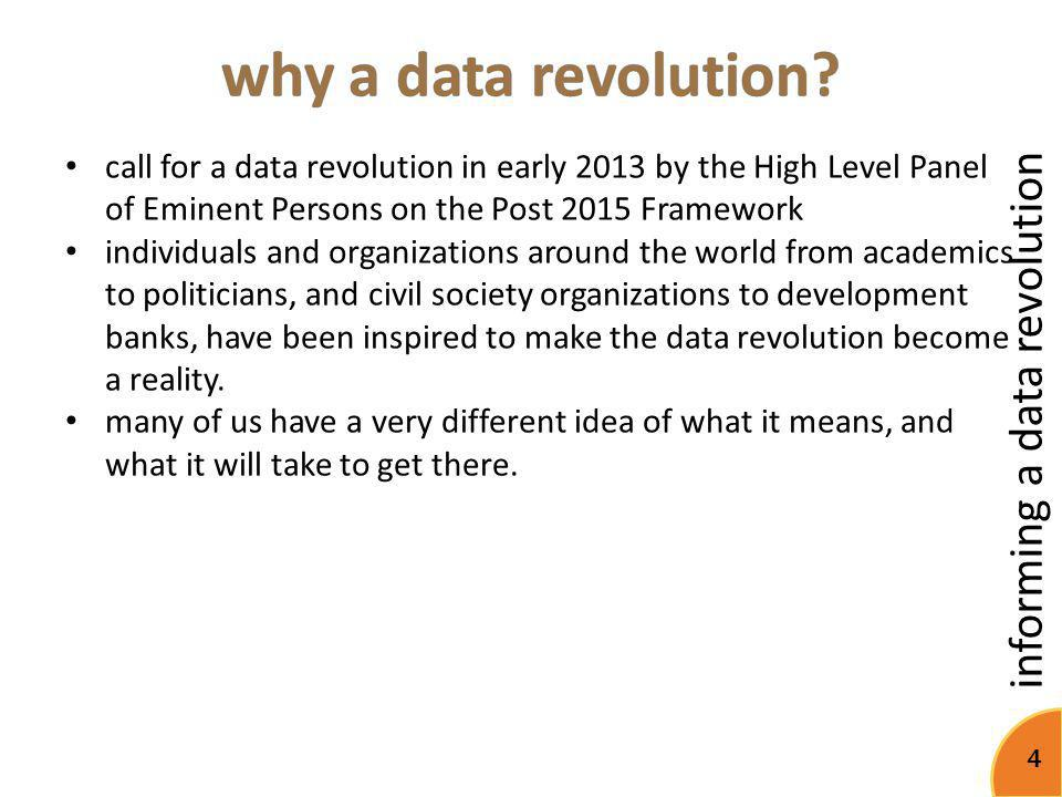 informing a data revolution 15 metabase Access The public availability of data is the foundation of a better informed society Institutions A healthy institutional environment is a catalyst for statistical development Use Knowledge on the demand for data improves efficiency in data production Innovations Innovations offer solutions for today's problems and inform tomorrow's standards Timeliness Timely data helps decision makers react quickly and stay informed Soundness A sound methodology builds trust in data and ensures transparency