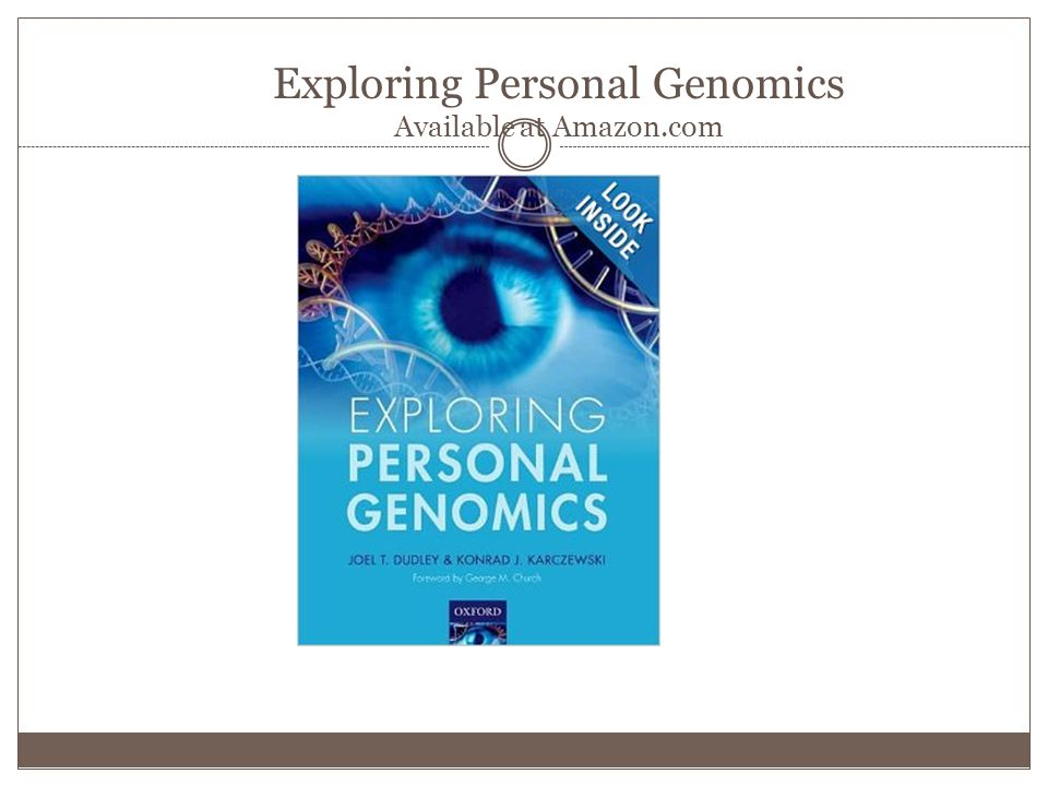 Exploring Personal Genomics Available at Amazon.com