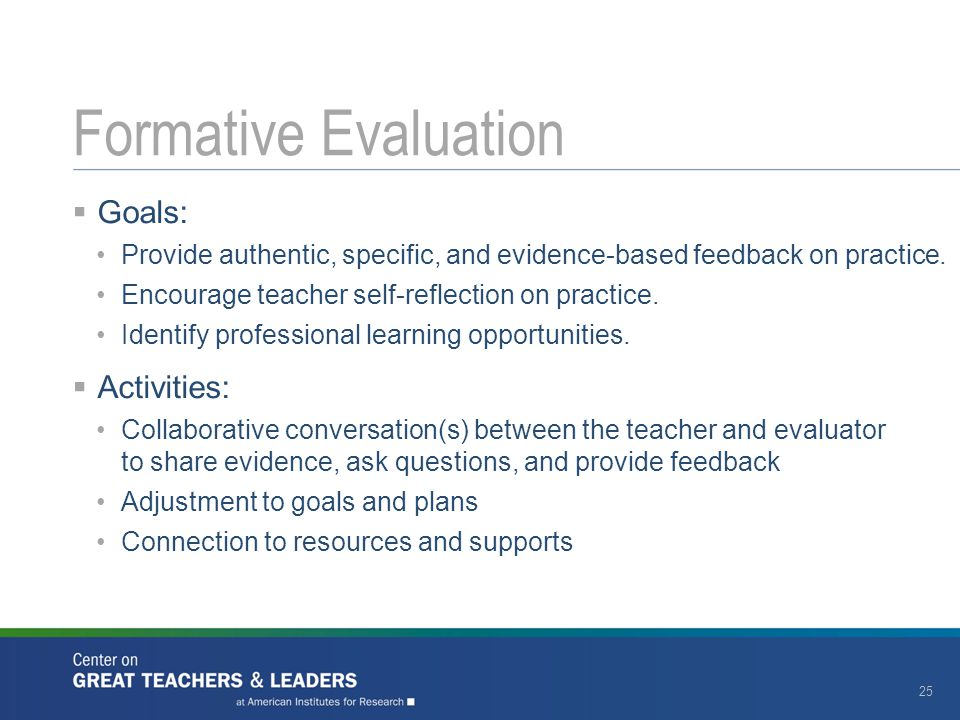  Goals: Provide authentic, specific, and evidence-based feedback on practice.