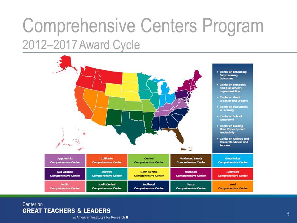Comprehensive Centers Program 2012–2017 Award Cycle 5