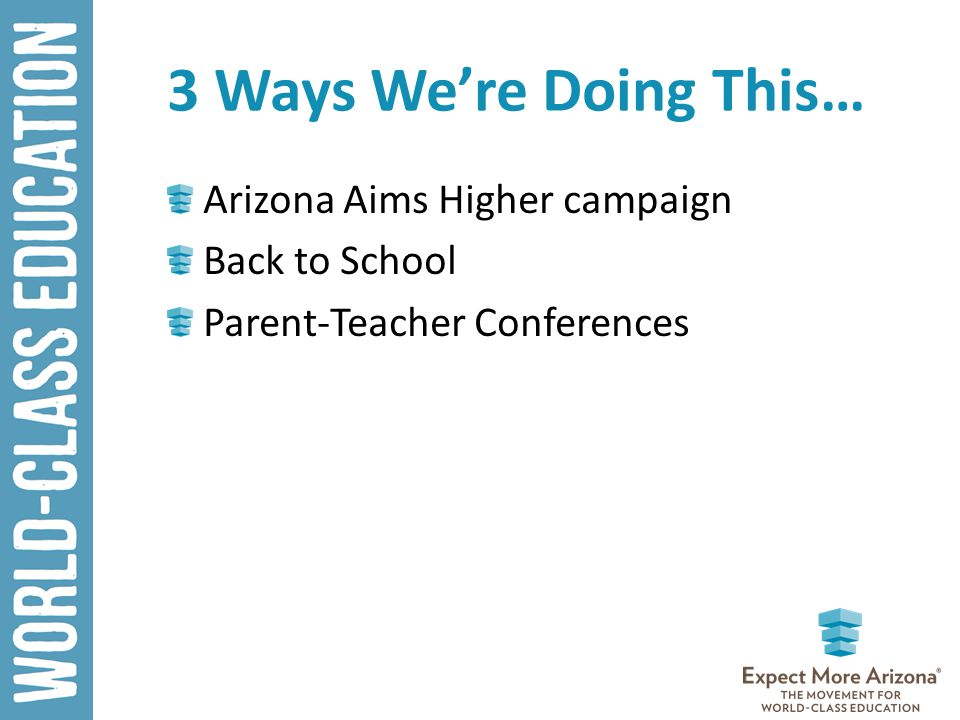 3 Ways We're Doing This… Arizona Aims Higher campaign Back to School Parent-Teacher Conferences