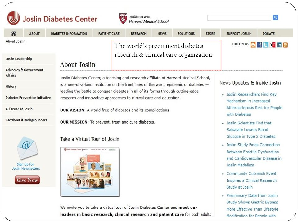 The world's preeminent diabetes research & clinical care organization
