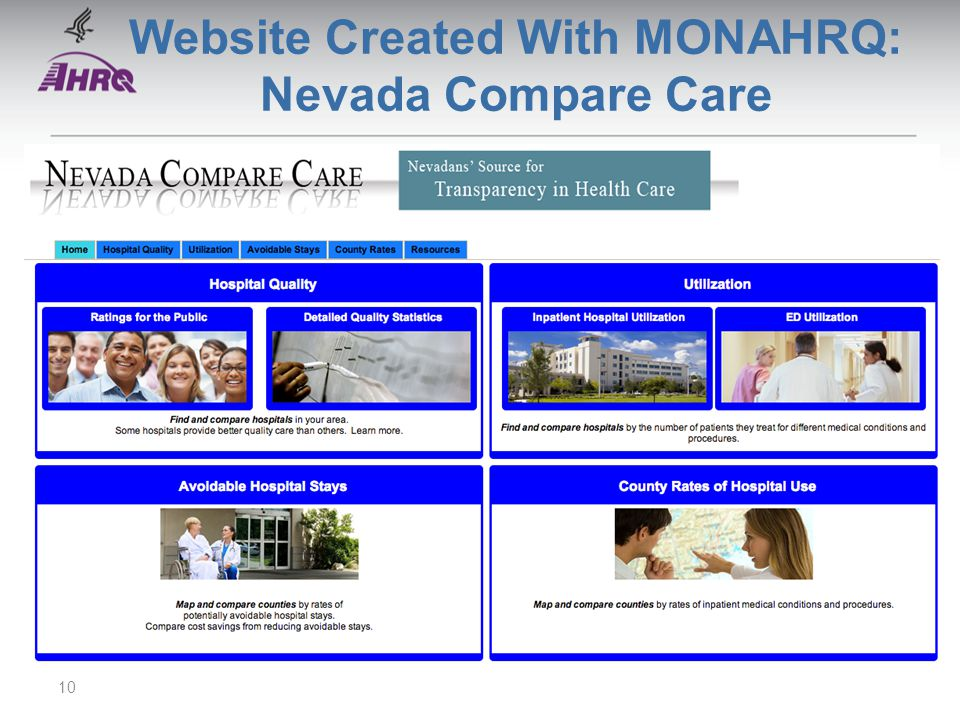 Website Created With MONAHRQ: Nevada Compare Care 10