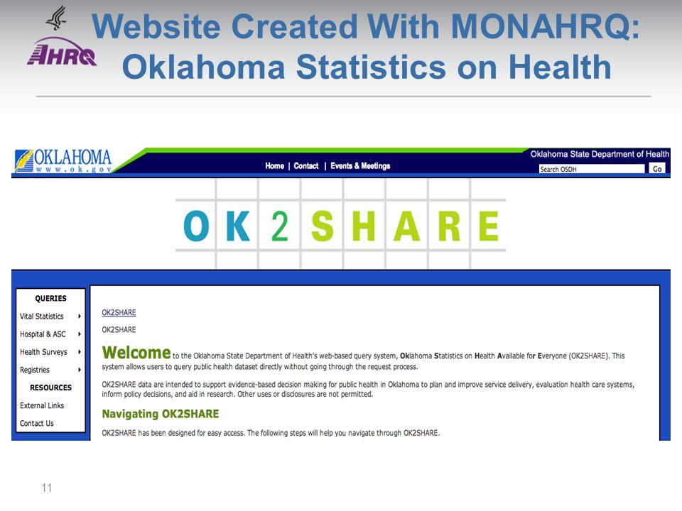 Website Created With MONAHRQ: Oklahoma Statistics on Health 11