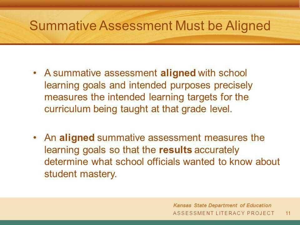 Summative Assessment Kansas State Department Of Education