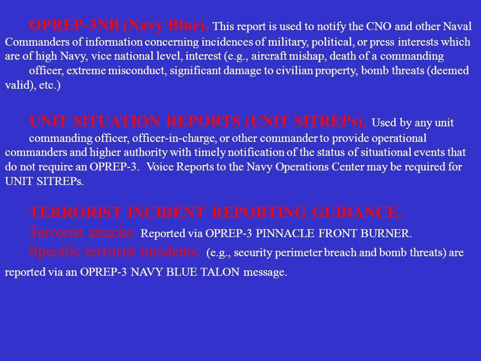 OPREP-3NB (Navy Blue).