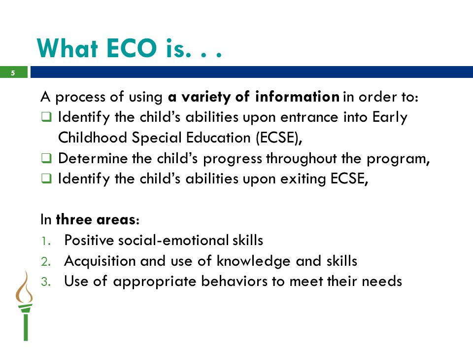 DESE Webinars, FAQs and National Resources  More information on ECO http://dese.mo.gov/data-system- management/special-education-data/early-childhood-outcomes-eco-traininghttp://dese.mo.gov/data-system- management/special-education-data/early-childhood-outcomes-eco-training  Funds Guidance http://dese.mo.gov/financial-admin-services/special- education-finance/early-childhood-special-education-financehttp://dese.mo.gov/financial-admin-services/special- education-finance/early-childhood-special-education-finance  More information on DRDP-PS (2010) http://dese.mo.gov/early-extended- learning/early-learning/school-readiness-toolhttp://dese.mo.gov/early-extended- learning/early-learning/school-readiness-tool  DEC-Division of Early Childhood  NAEYC-National Association for the Education of Young Children  ECTA- National Early Childhood Technical Assistance Center ectacenter.org 36