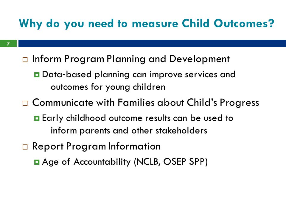 DRDP-PS (2010)  The Desired Results Developmental Profile is designed for teachers to observe, document, and reflect on the learning, development, and progress of children, in early learning programs.
