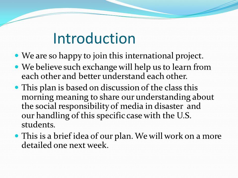 Introduction Next Monday(April 9), Mr.